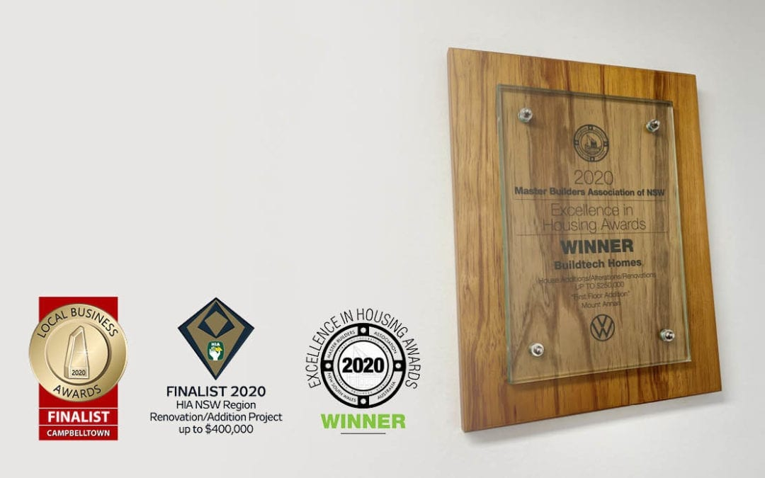 An Award Winning Builder.. What does that mean?